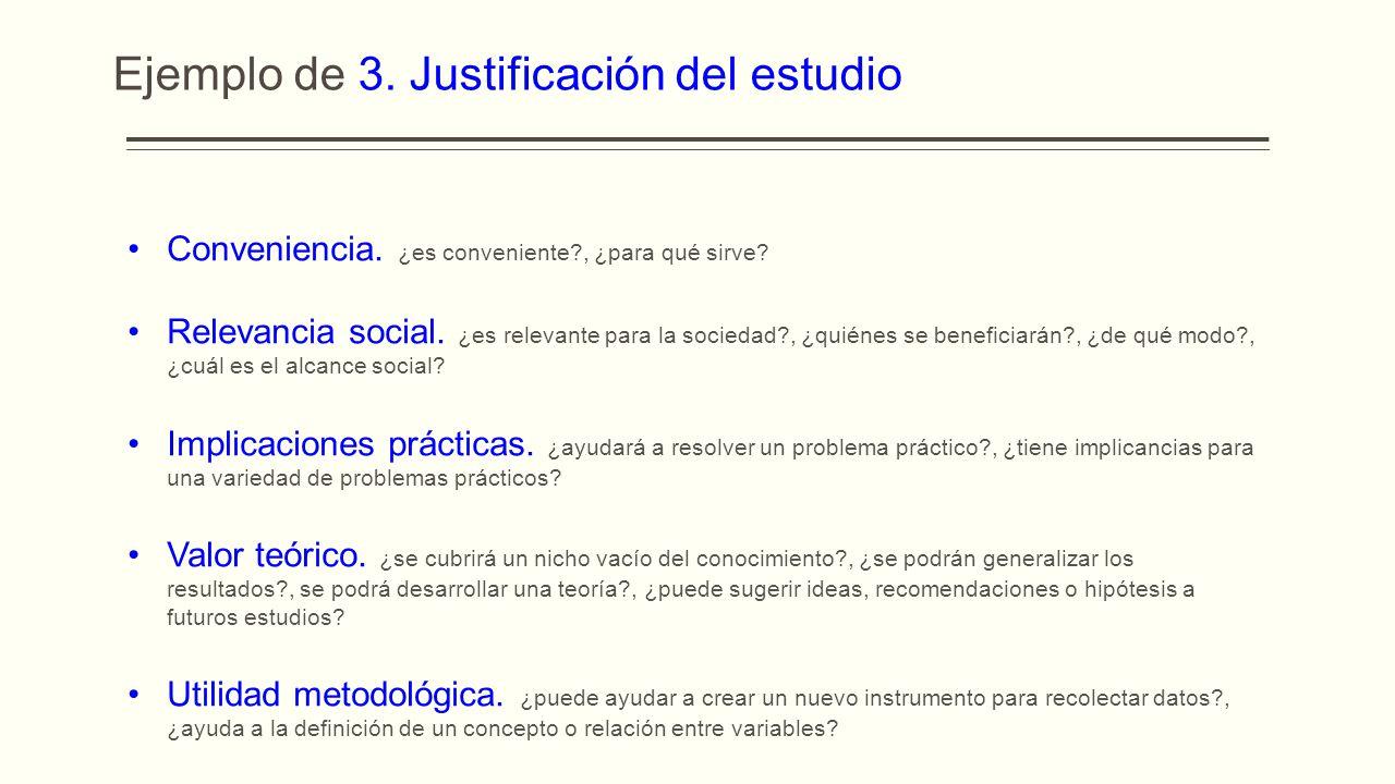 Ejemplo de 3. Justificación del estudio