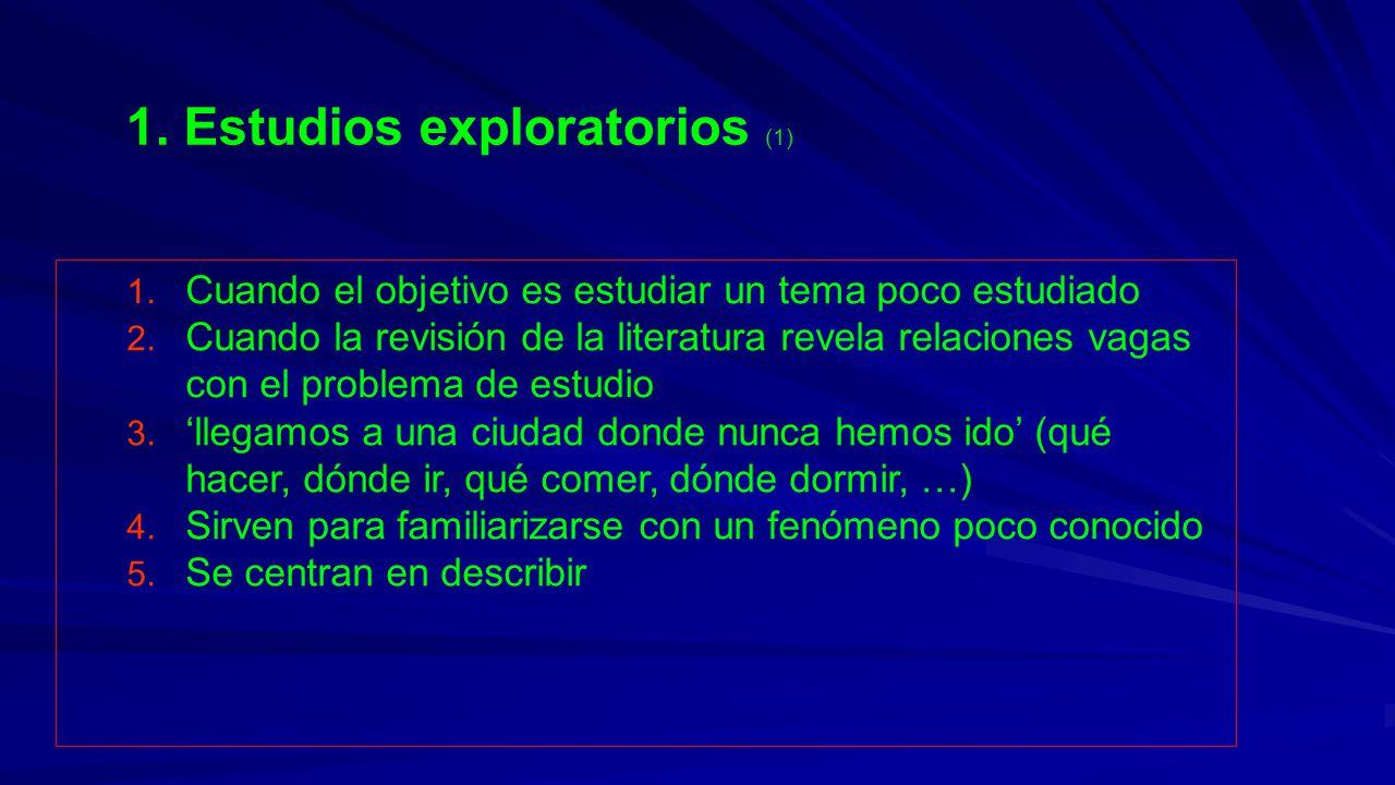 1. Estudios exploratorios (1)