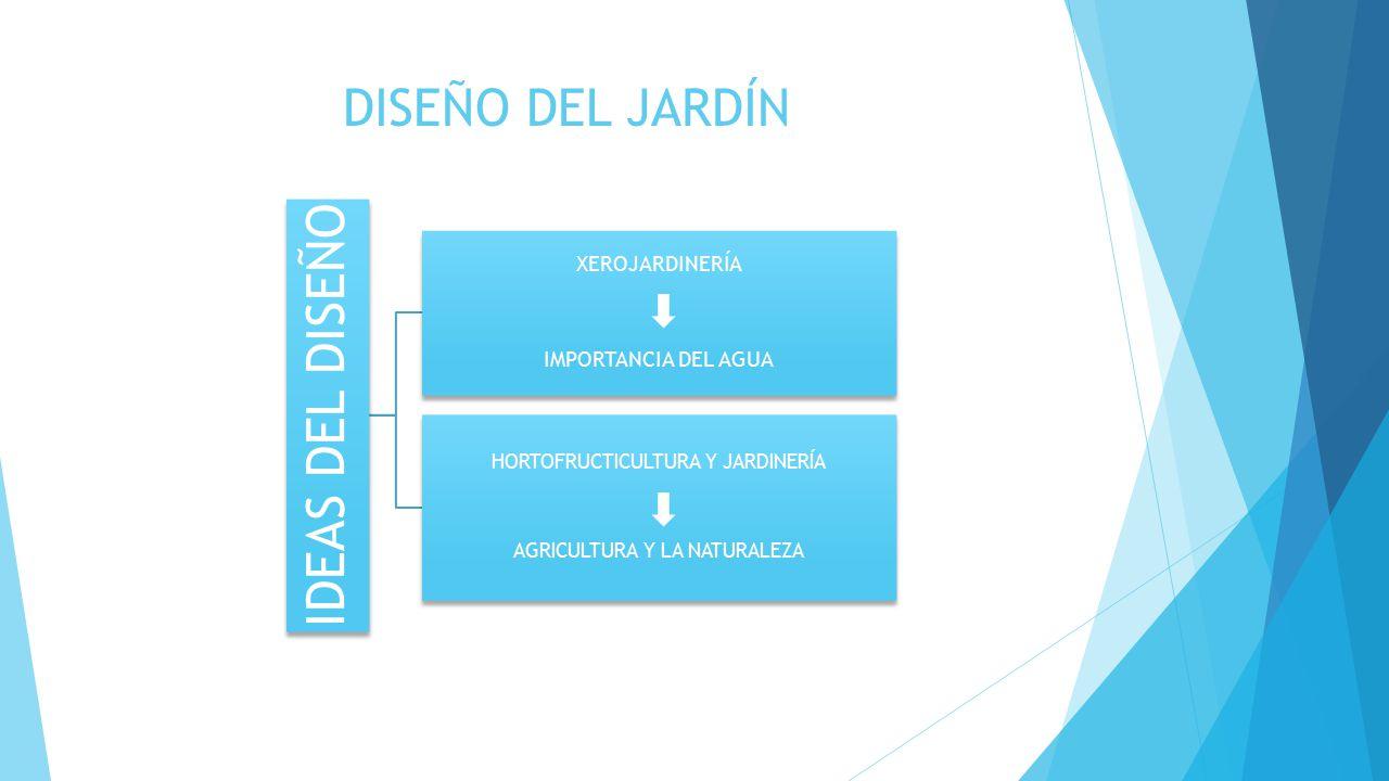 IDEAS DEL DISEÑO DISEÑO DEL JARDÍN XEROJARDINERÍA IMPORTANCIA DEL AGUA