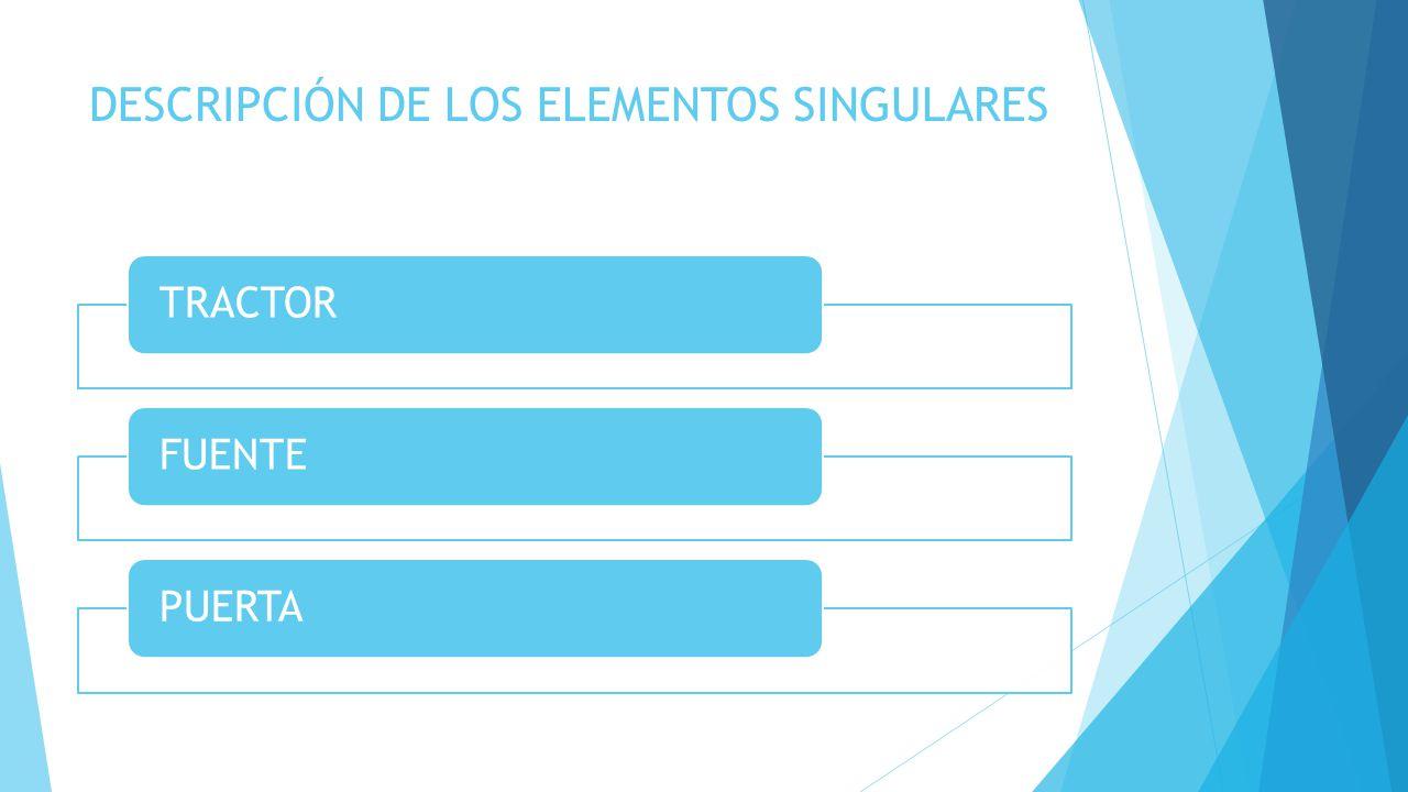 DESCRIPCIÓN DE LOS ELEMENTOS SINGULARES