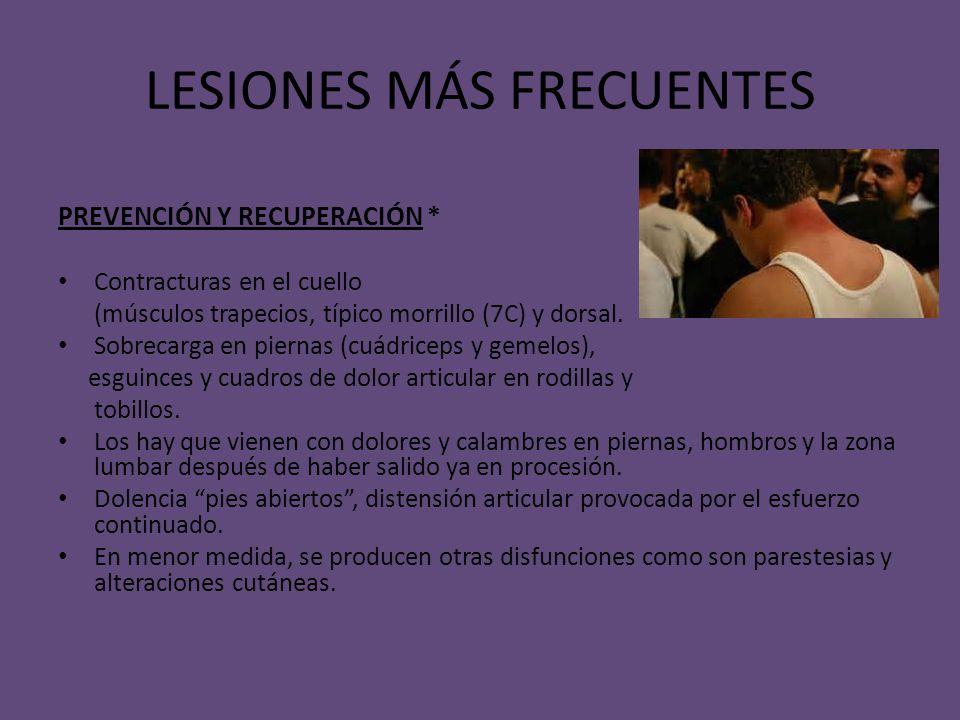 LESIONES MÁS FRECUENTES