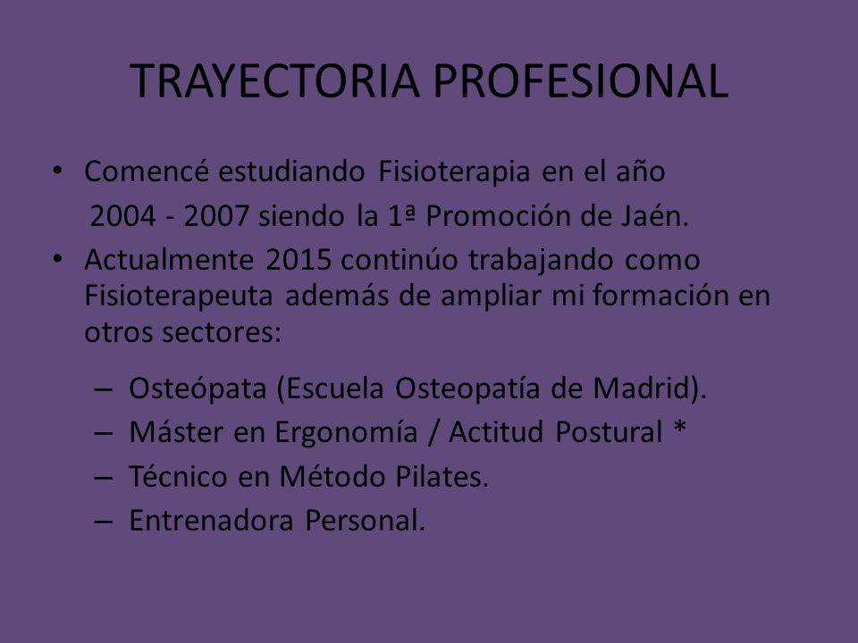 TRAYECTORIA PROFESIONAL
