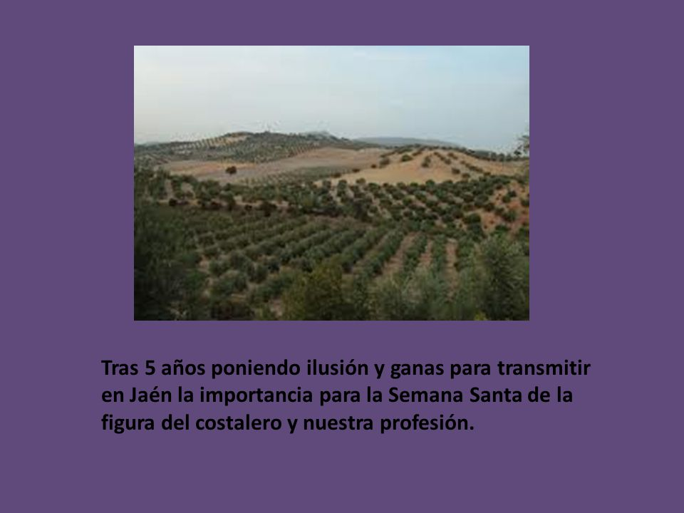 Tras 5 años poniendo ilusión y ganas para transmitir en Jaén la importancia para la Semana Santa de la figura del costalero y nuestra profesión.