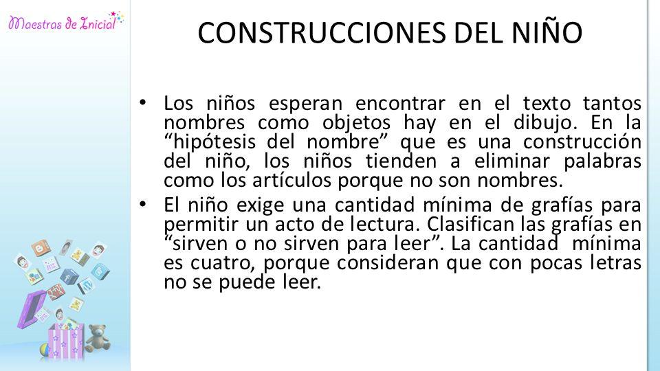 CONSTRUCCIONES DEL NIÑO