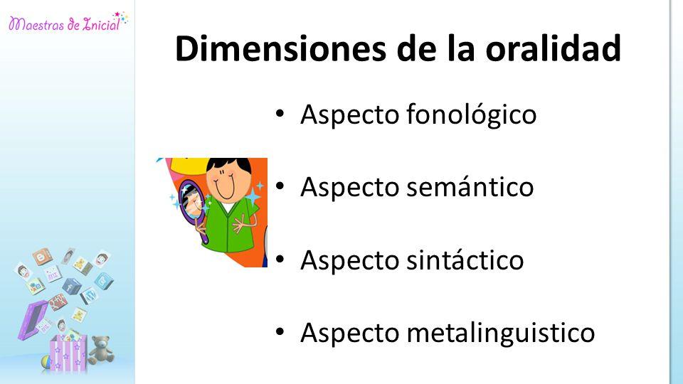 Dimensiones de la oralidad