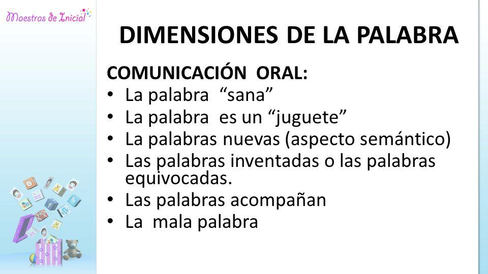 DIMENSIONES DE LA PALABRA