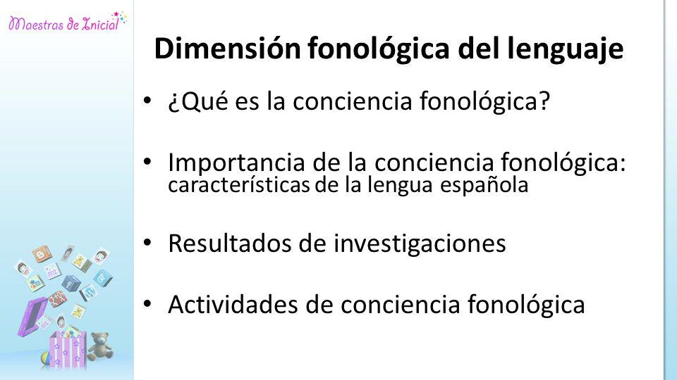 Dimensión fonológica del lenguaje