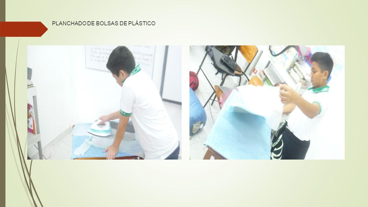 PLANCHADO DE BOLSAS DE PLÁSTICO