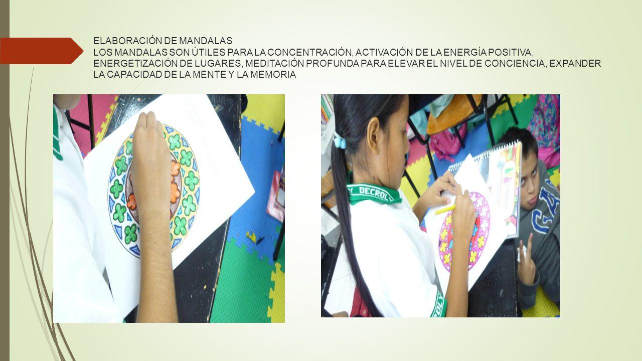 ELABORACIÓN DE MANDALAS LOS MANDALAS SON ÚTILES PARA LA CONCENTRACIÓN, ACTIVACIÓN DE LA ENERGÍA POSITIVA, ENERGETIZACIÓN DE LUGARES, MEDITACIÓN PROFUNDA PARA ELEVAR EL NIVEL DE CONCIENCIA, EXPANDER LA CAPACIDAD DE LA MENTE Y LA MEMORIA