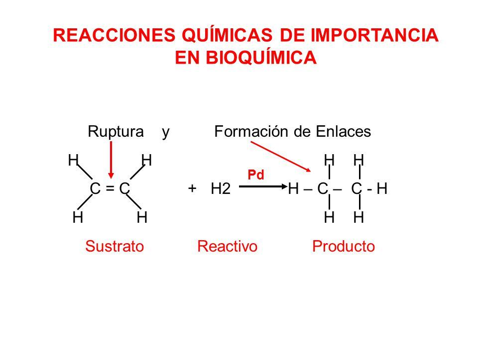 REACCIONES QUÍMICAS DE IMPORTANCIA EN BIOQUÍMICA