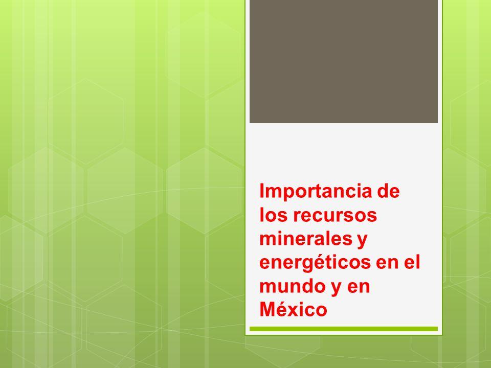 Importancia de los recursos minerales y energéticos en el mundo y en México