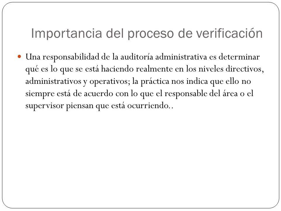 Importancia del proceso de verificación