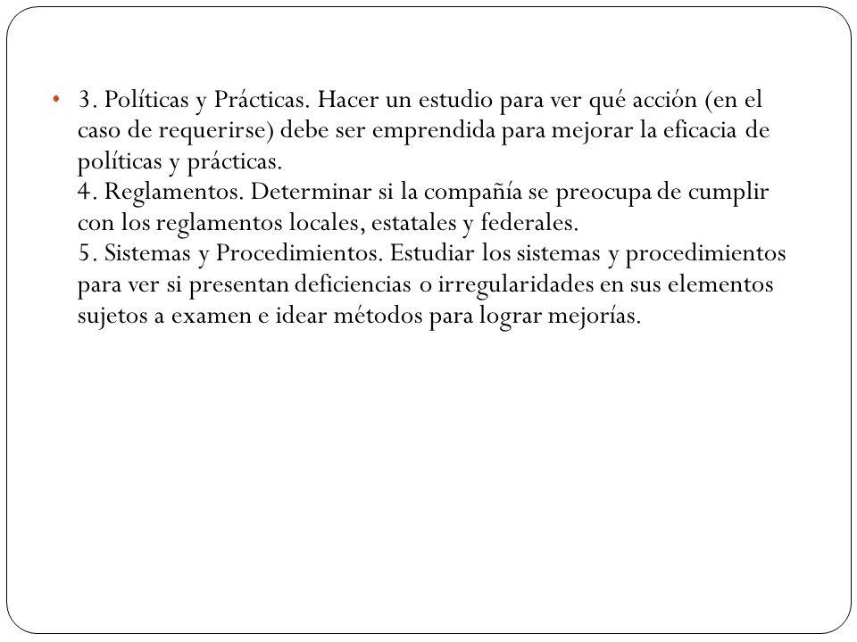 3. Políticas y Prácticas.