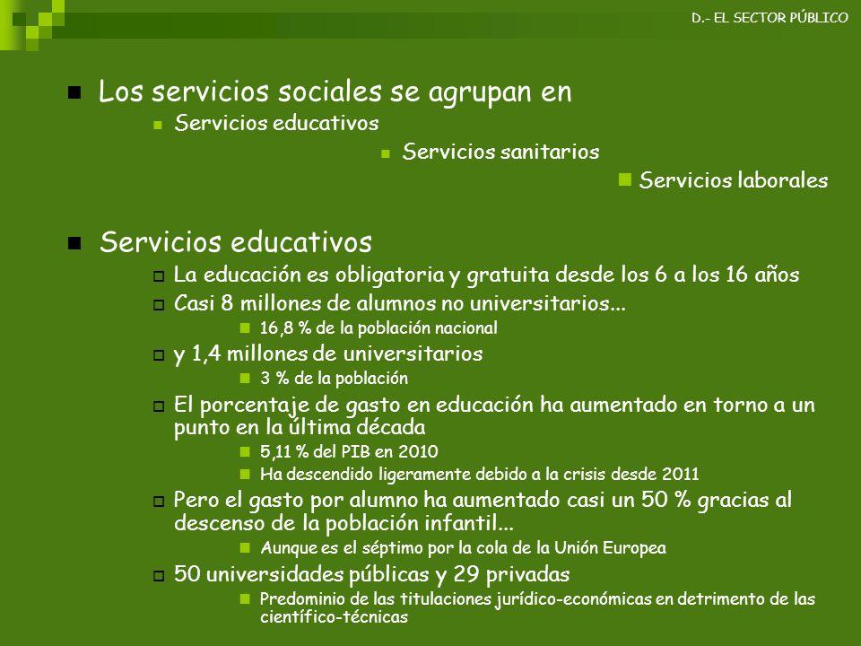 Los servicios sociales se agrupan en