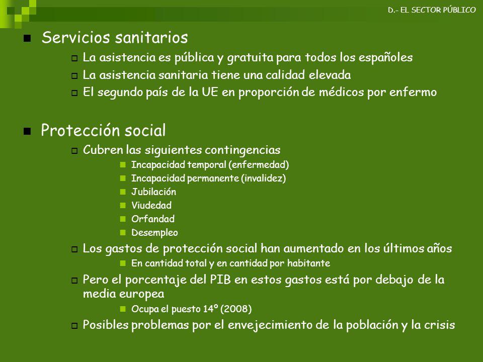 Servicios sanitarios Protección social