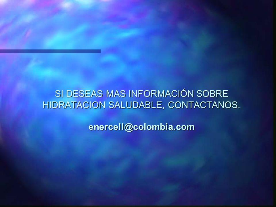 SI DESEAS MAS INFORMACIÓN SOBRE HIDRATACION SALUDABLE, CONTACTANOS