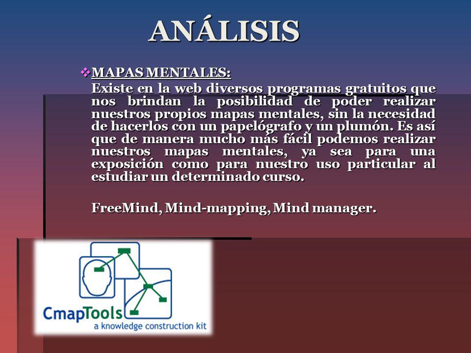ANÁLISIS MAPAS MENTALES: