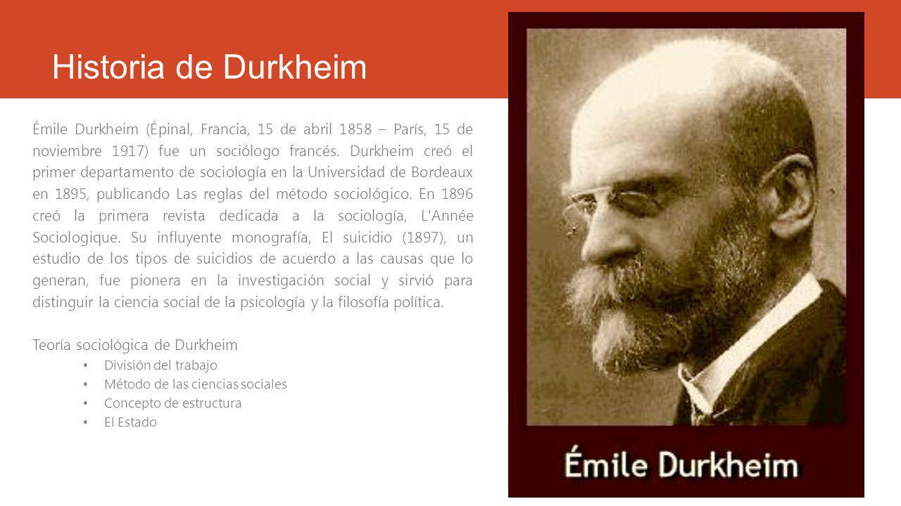 Historia de Durkheim