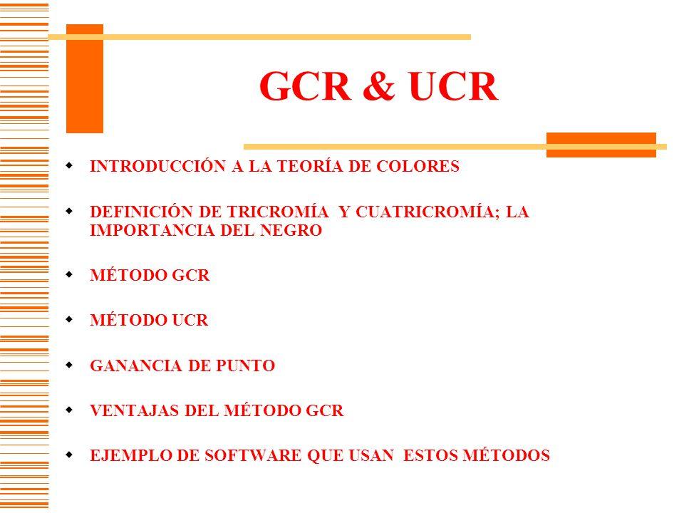 GCR & UCR INTRODUCCIÓN A LA TEORÍA DE COLORES