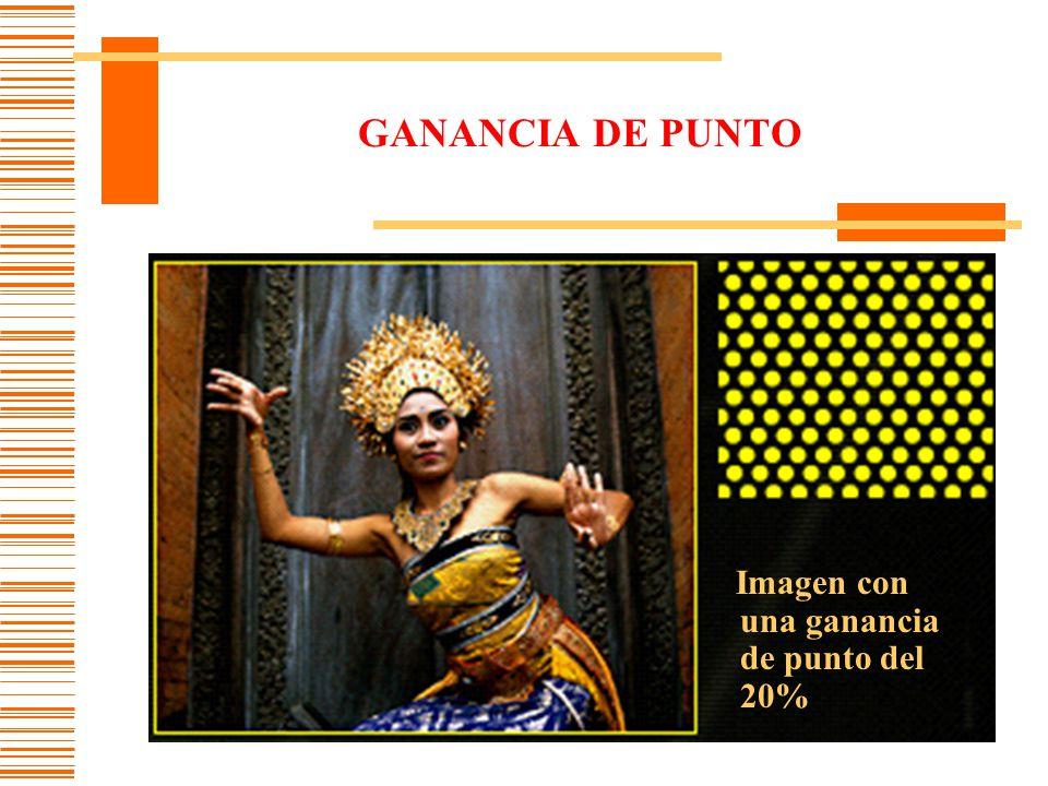 GANANCIA DE PUNTO Imagen con una ganancia de punto del 20%