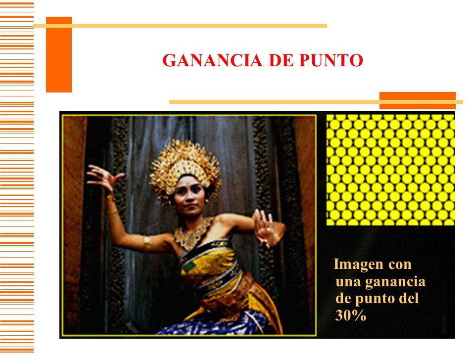 GANANCIA DE PUNTO Imagen con una ganancia de punto del 30%