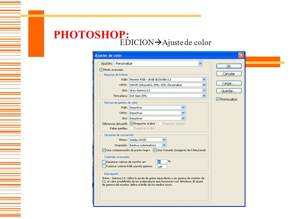 PHOTOSHOP: EDICIONAjuste de color