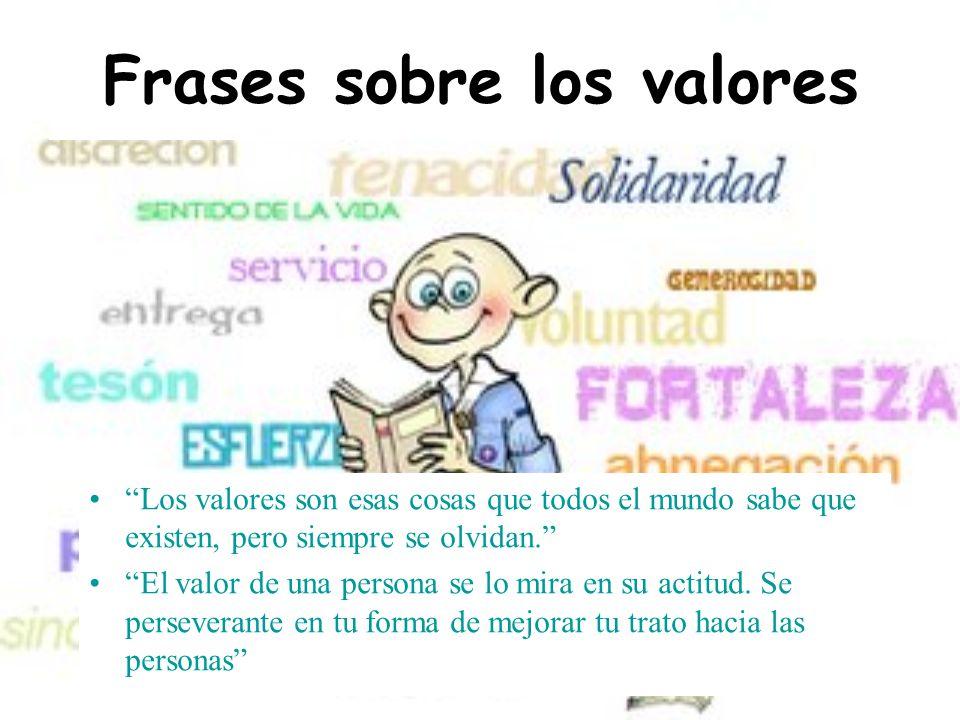 Frases sobre los valores