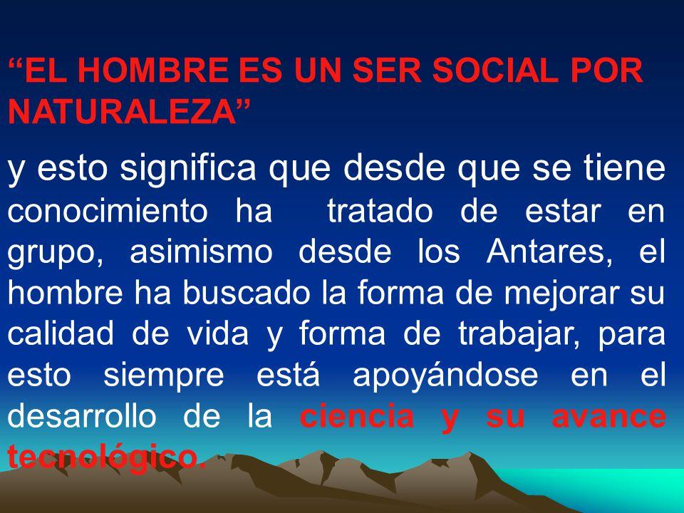 EL HOMBRE ES UN SER SOCIAL POR NATURALEZA