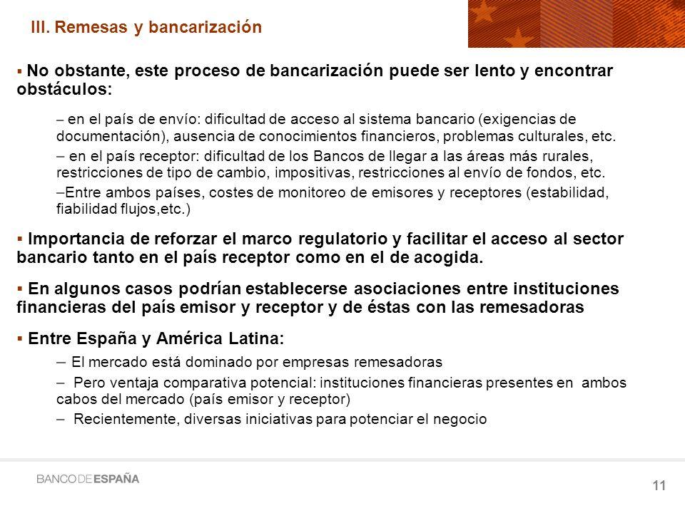 III. Remesas y bancarización