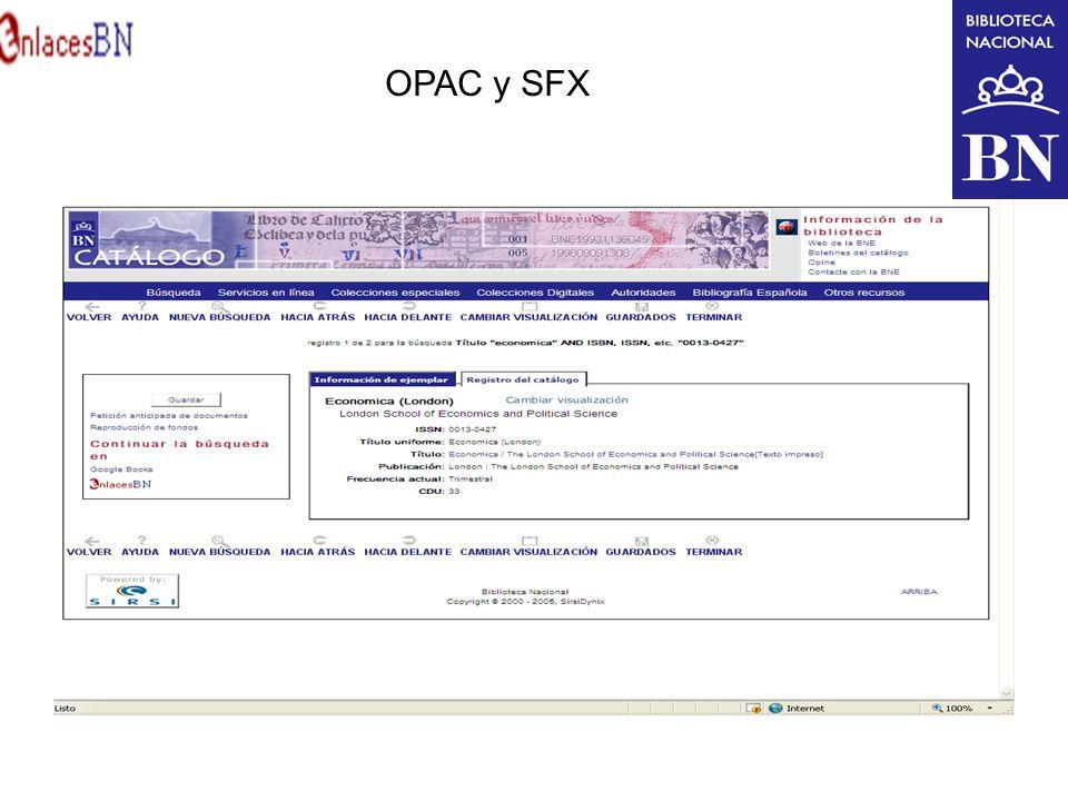 OPAC y SFX