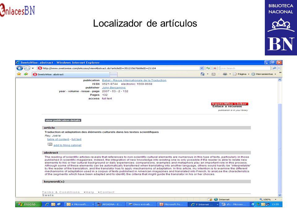 Localizador de artículos