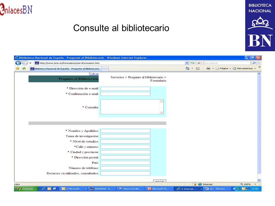 Consulte al bibliotecario