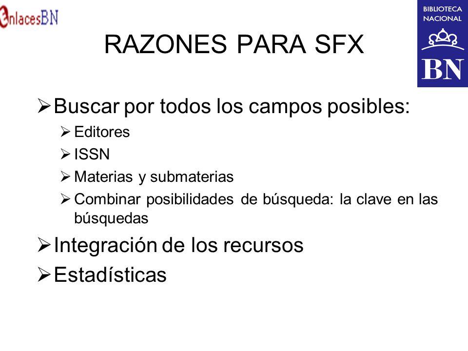 RAZONES PARA SFX Buscar por todos los campos posibles: