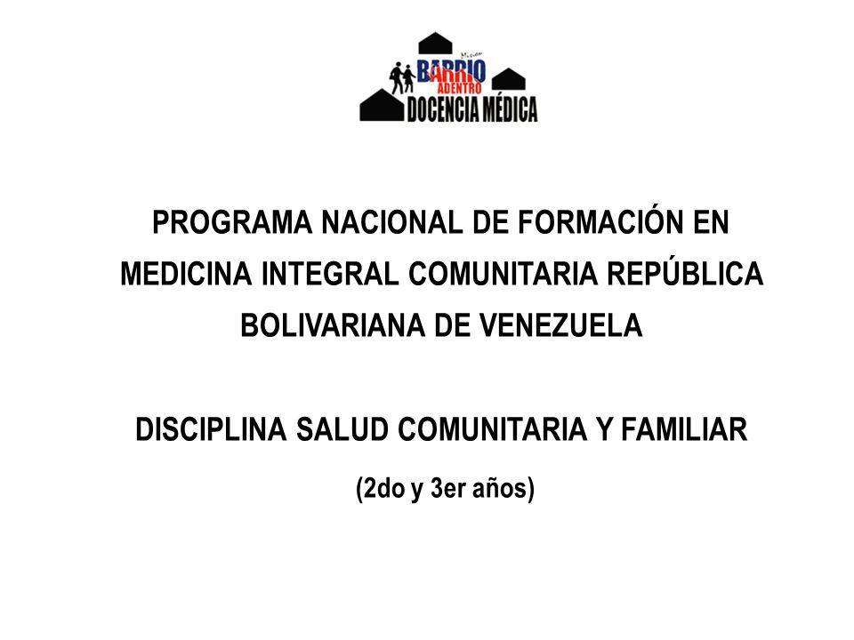 (2do y 3er años) PROGRAMA NACIONAL DE FORMACIÓN EN
