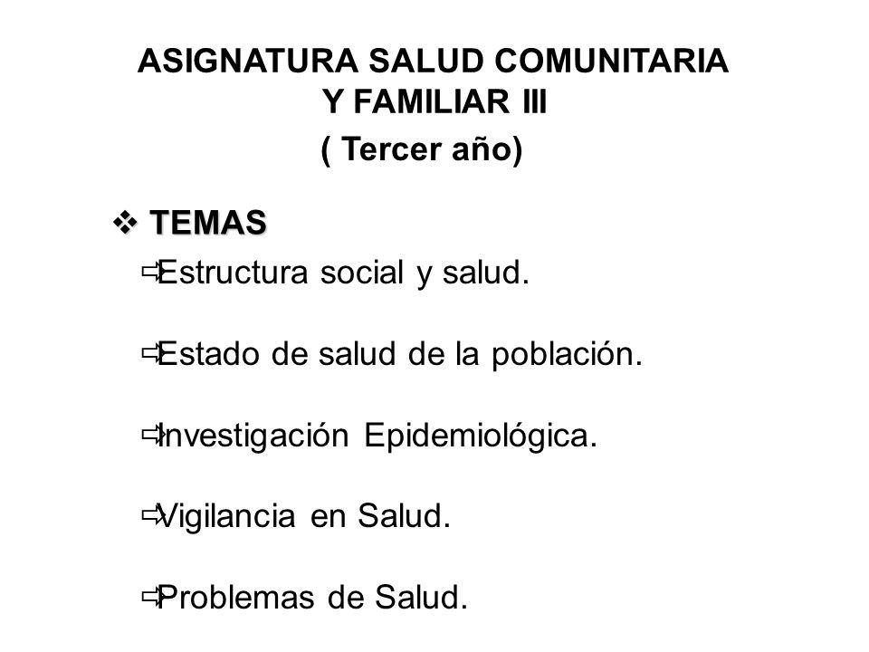 ASIGNATURA SALUD COMUNITARIA