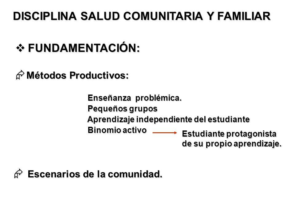 DISCIPLINA SALUD COMUNITARIA Y FAMILIAR