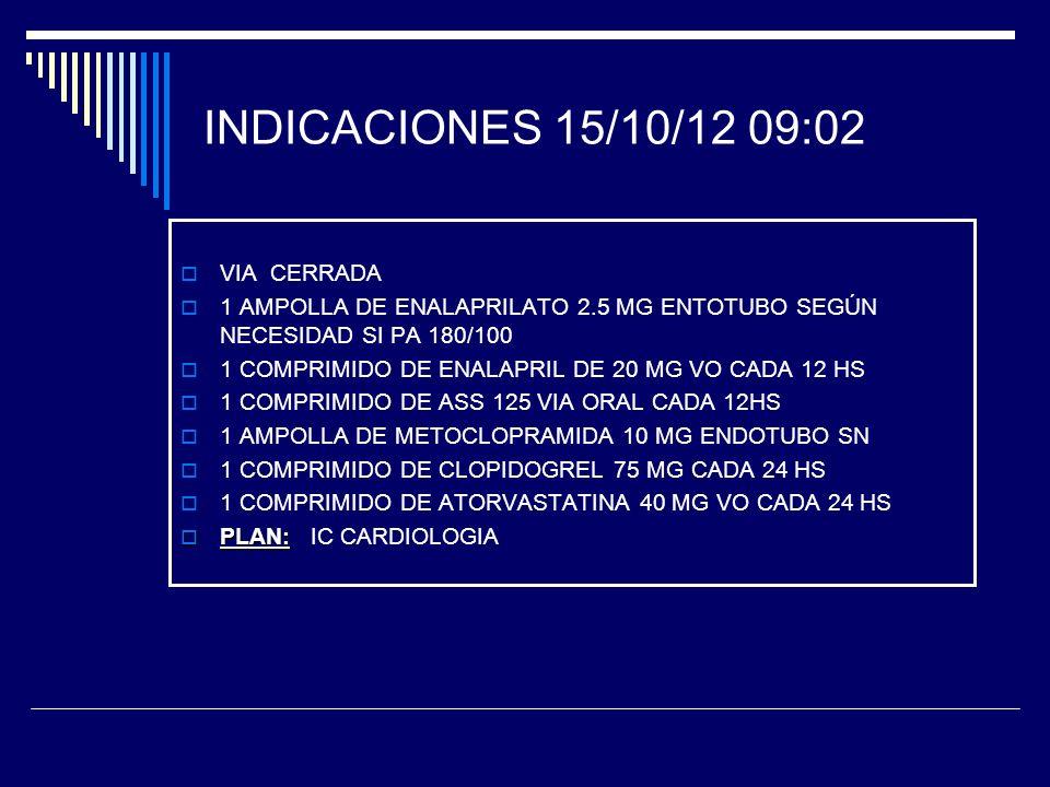 INDICACIONES 15/10/12 09:02 VIA CERRADA