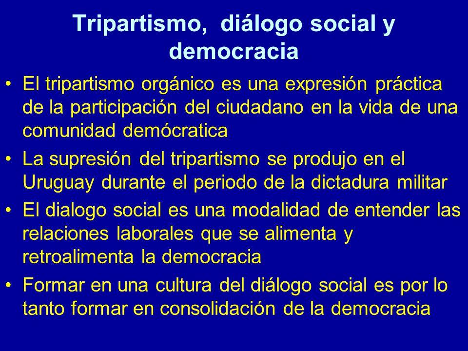 Tripartismo, diálogo social y democracia