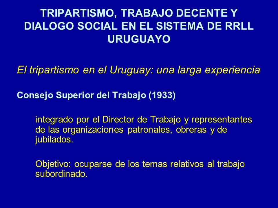 El tripartismo en el Uruguay: una larga experiencia