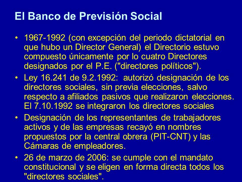 El Banco de Previsión Social