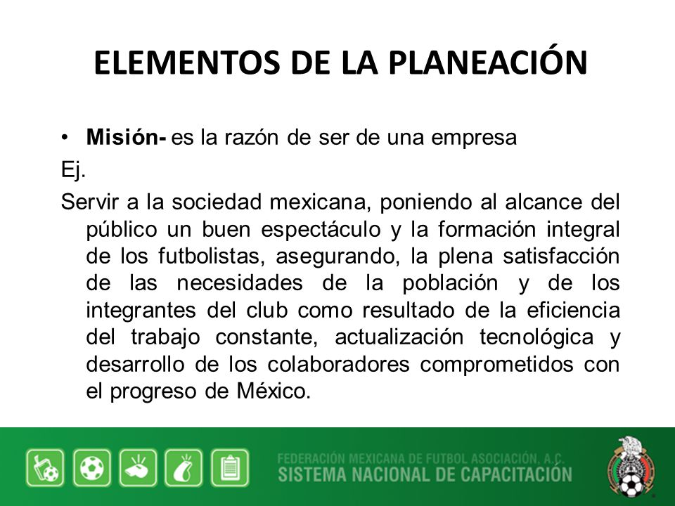 ELEMENTOS DE LA PLANEACIÓN