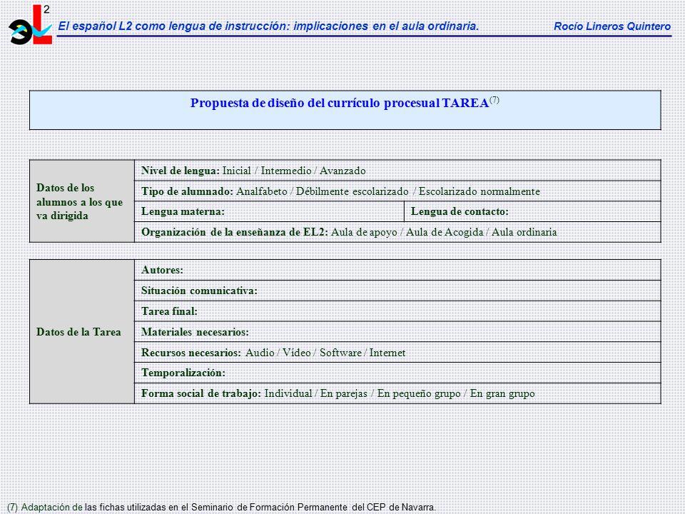 Propuesta de diseño del currículo procesual TAREA(7)