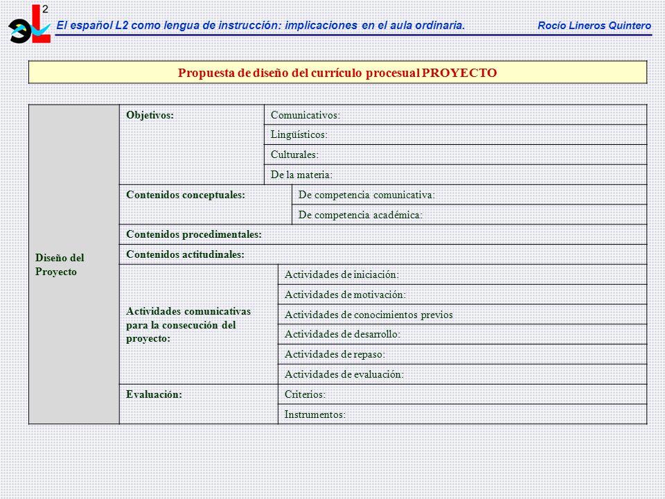 Propuesta de diseño del currículo procesual PROYECTO