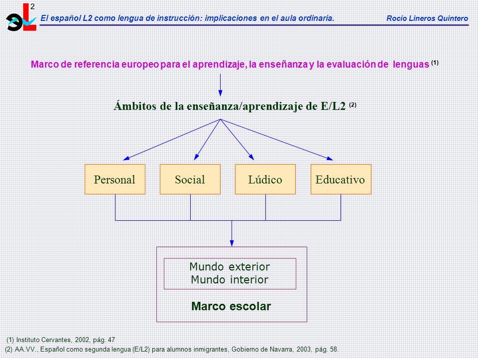 Ámbitos de la enseñanza/aprendizaje de E/L2 (2)