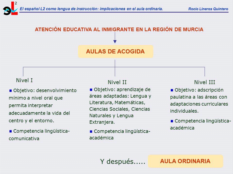 ATENCIÓN EDUCATIVA AL INMIGRANTE EN LA REGIÓN DE MURCIA