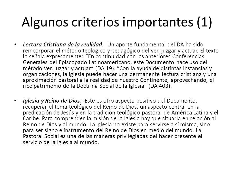 Algunos criterios importantes (1)