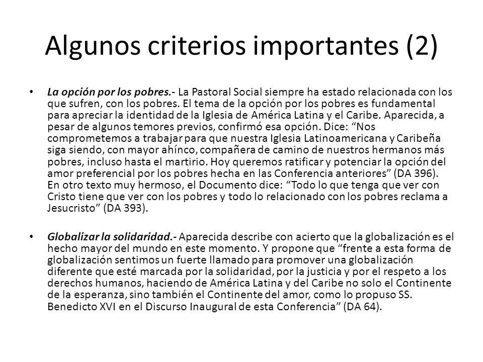 Algunos criterios importantes (2)