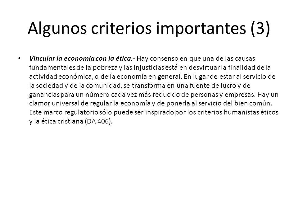 Algunos criterios importantes (3)
