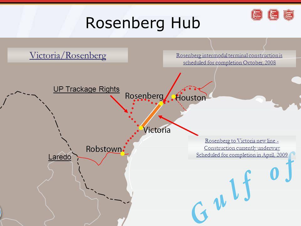 Rosenberg Hub Victoria/Rosenberg UP Trackage Rights Laredo