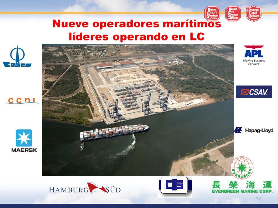Nueve operadores marítimos